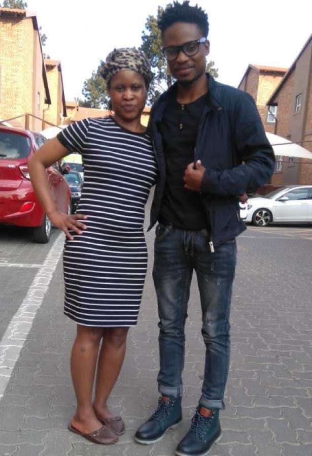 Brighton Manaba and his mom