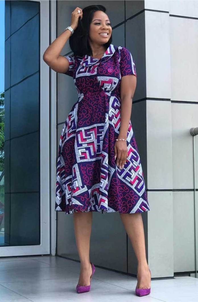 African print long dress