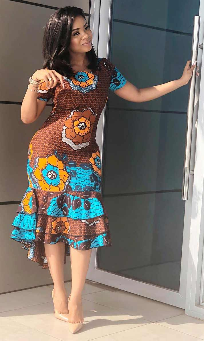 Serwaa Amihere african print dress