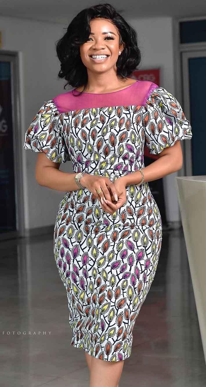 Serwaa Amihere in African fashion office wear