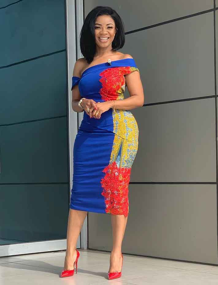 Serwaa Amihere in a beautiful african design dress
