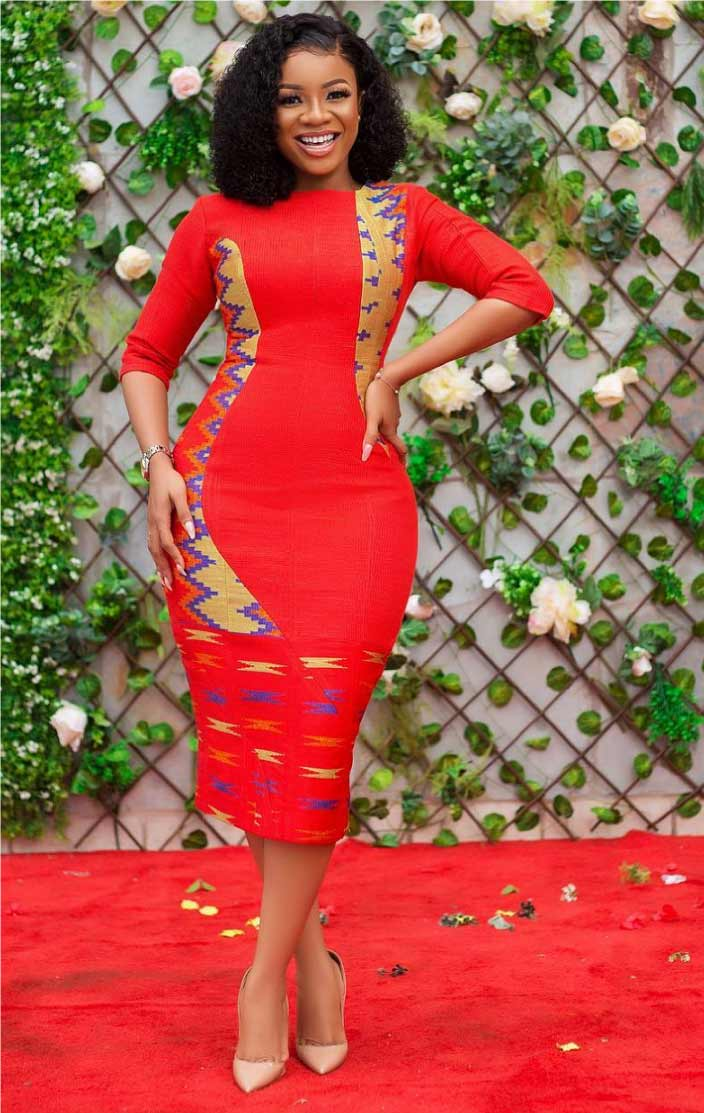 red kente dress