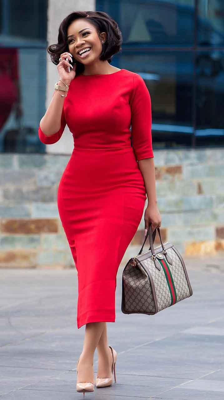 serwaa amihere red dress