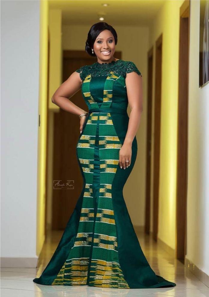 kente long dress