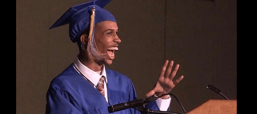 Non-Verbal high school student Ahmed Ali creates history by giving graduation speech With Voice Tech