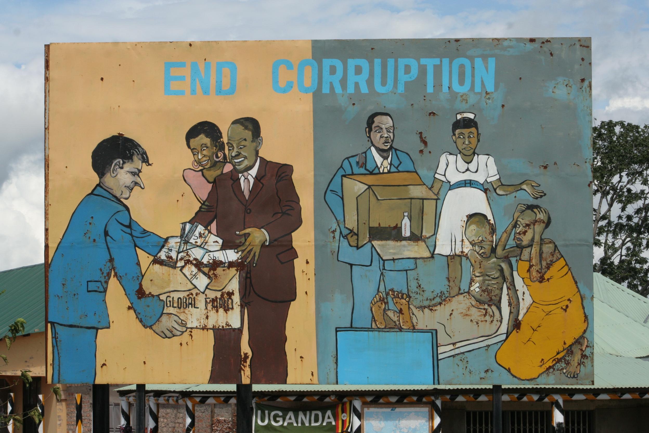 Uganda anti-corruption billboard