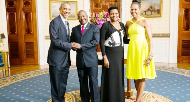 Les-couples-presidentiels-americains-et-burundais-a-la-Maison-Blanche