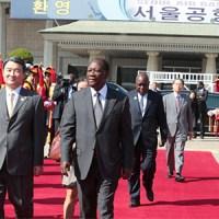Côte d´Ivoire : Visite du Président Alassane Ouatara en Corée