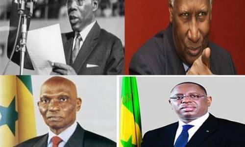 Leopold-Sedar-Senghor-Abdou-Diouf-Abdoulaye-Wade-Macky-Sall