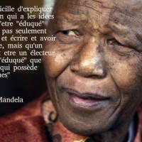La sagesse de Mandela …