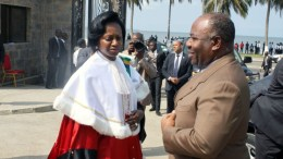 Ali Bongo et Marie Madeleine Mborantsuo