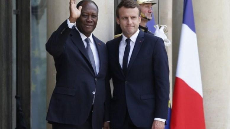 Alassane Ouattara et Emmanuel Macron