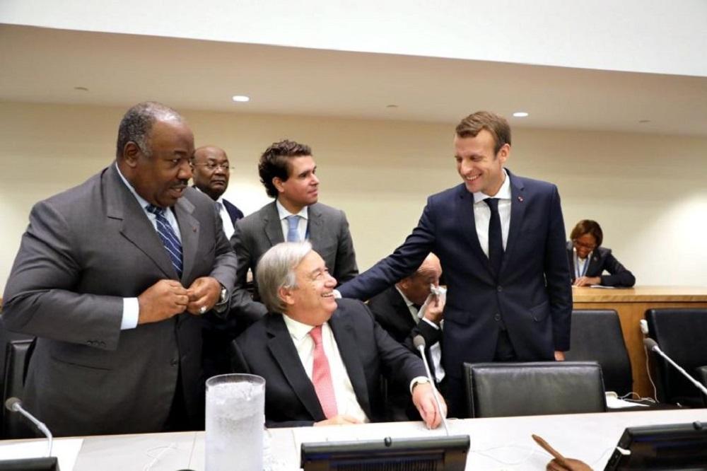 Ali Bongo Ondimba et Emmanuel Macron