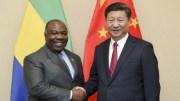 Ali Bongo Ondimba et Xi Jinping