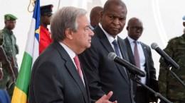 Antonio Guterres en Centrafrique