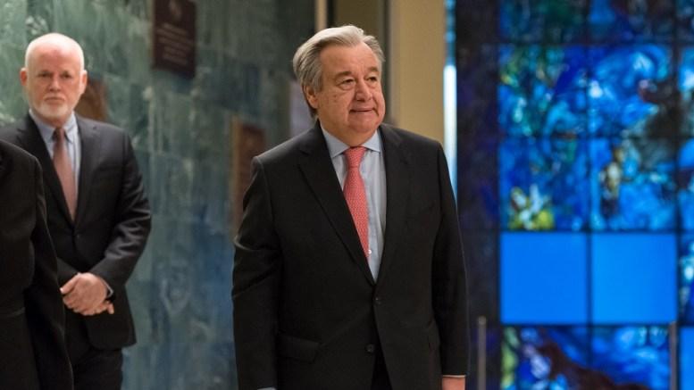 Antonio Guterres, le SG de l'ONU