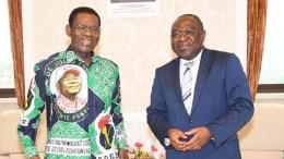 Désiré Geoffroy Mbock reçu par Teodoro Obiang Nguema