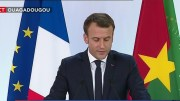 Emmanuel Macron à Ouagadougou