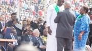 Ali Bongo Ondimba a pris part à l'investiture de Georges WEHA