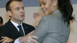 Emmanuel Macron et Rihanna pour l'éducation