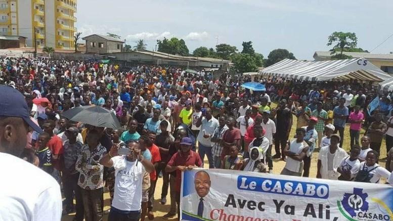 Les jeunes gabonais soutiennent Ali Bongo