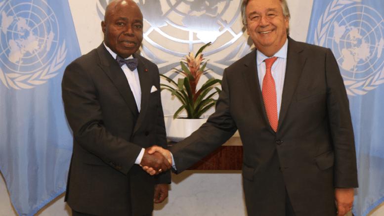 Bernard Tanoh-Boutchoue et le SG de l'ONU