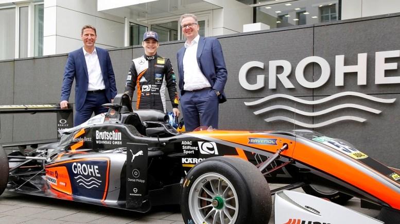 David Beckmann visite le sponsor GROHE