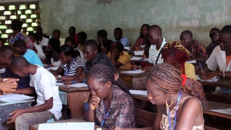 épreuves du baccalauréat en Centrafrique