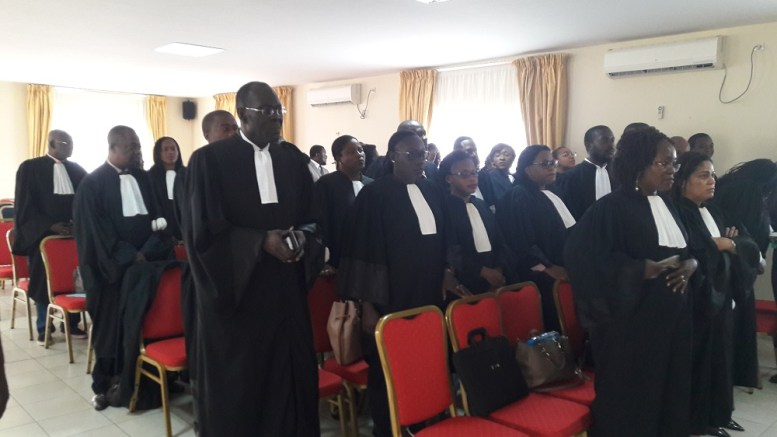 Les avocats du Barreau du Gabon