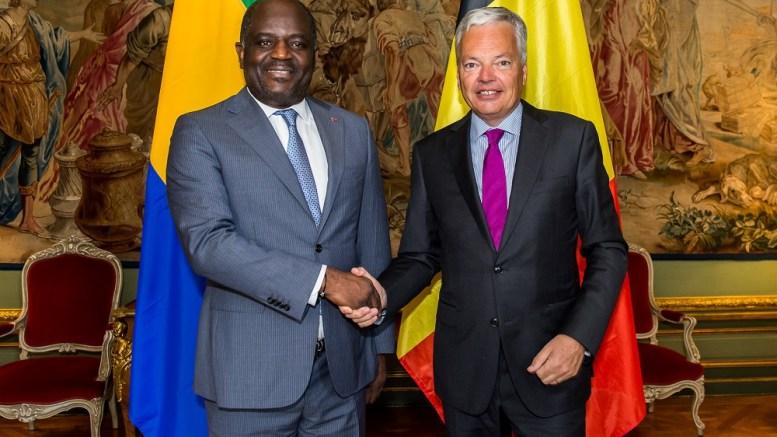 Régis Immongault Tatangani et Didier Reynders, Vice Premier ministre et ministre des Affaires étrangères et européennes (Belgique)