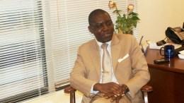 Charles Armel Doubane fait l'annonce sur le visa
