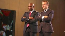 Emmanuel Macron et Tony Elumelu