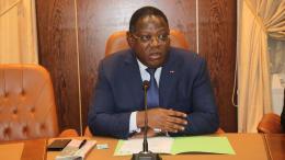 Le Premier ministre gabonais Emmanuel Issoze Ngondet