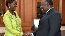 Louise Muhikiwabo et Ali Bongo
