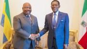 Poignée de mains entre S.E. Ali Bongo Ondimba et S.E. Teodoro Obiang Nguema Mbasogo