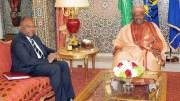 Tête à tête entre le Président Ali Bongo Ondimba et M. Léonard She Okitundu (VPM et ministre des AE de la RDC)
