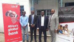 La délégation de UBA Gabon à l'école 241