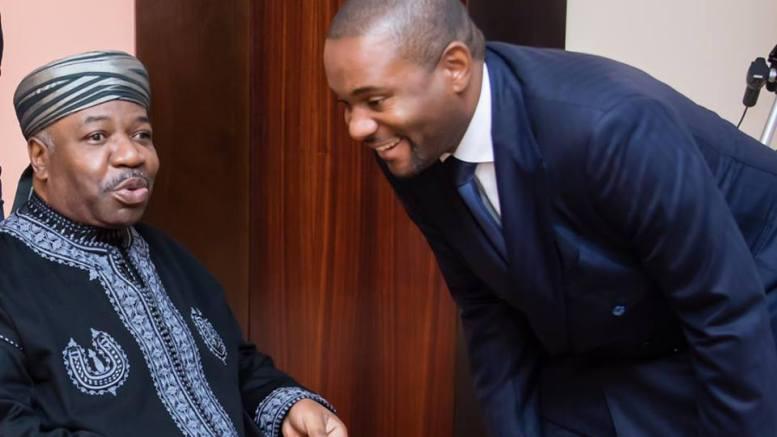 Le président Ali Bongo Ondimba et le porte-parole de la présidence de la République Ike Ngouoni à Rabat