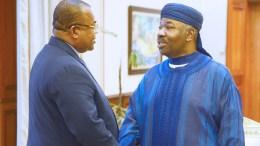 Ali Bongo Ondimba et Julien Nkoghe Bekale