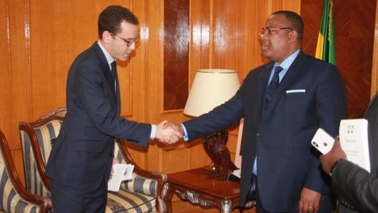 Julien Nkoghe Bekale et le responsable de CIMAF