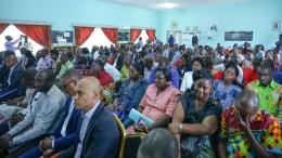 Les participants à la rencontre entre le ministre de l'Education nationale et les acteurs du secteur
