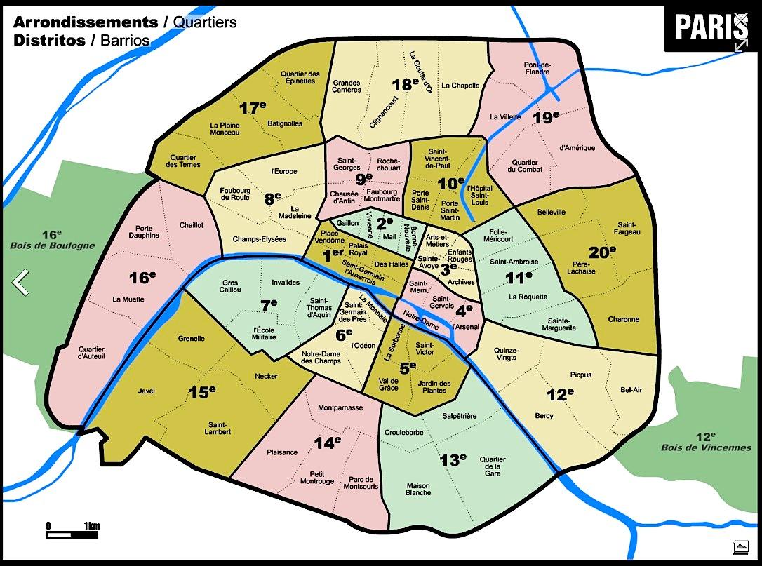 Image result for paris arrondissements