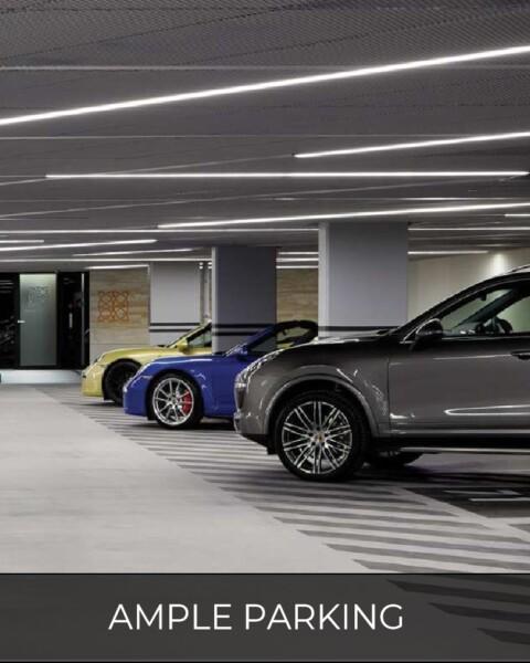 ample car park