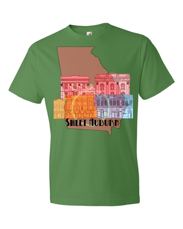 Afrikonomy | Sweet Auburn Unisex Tee | Green Apple