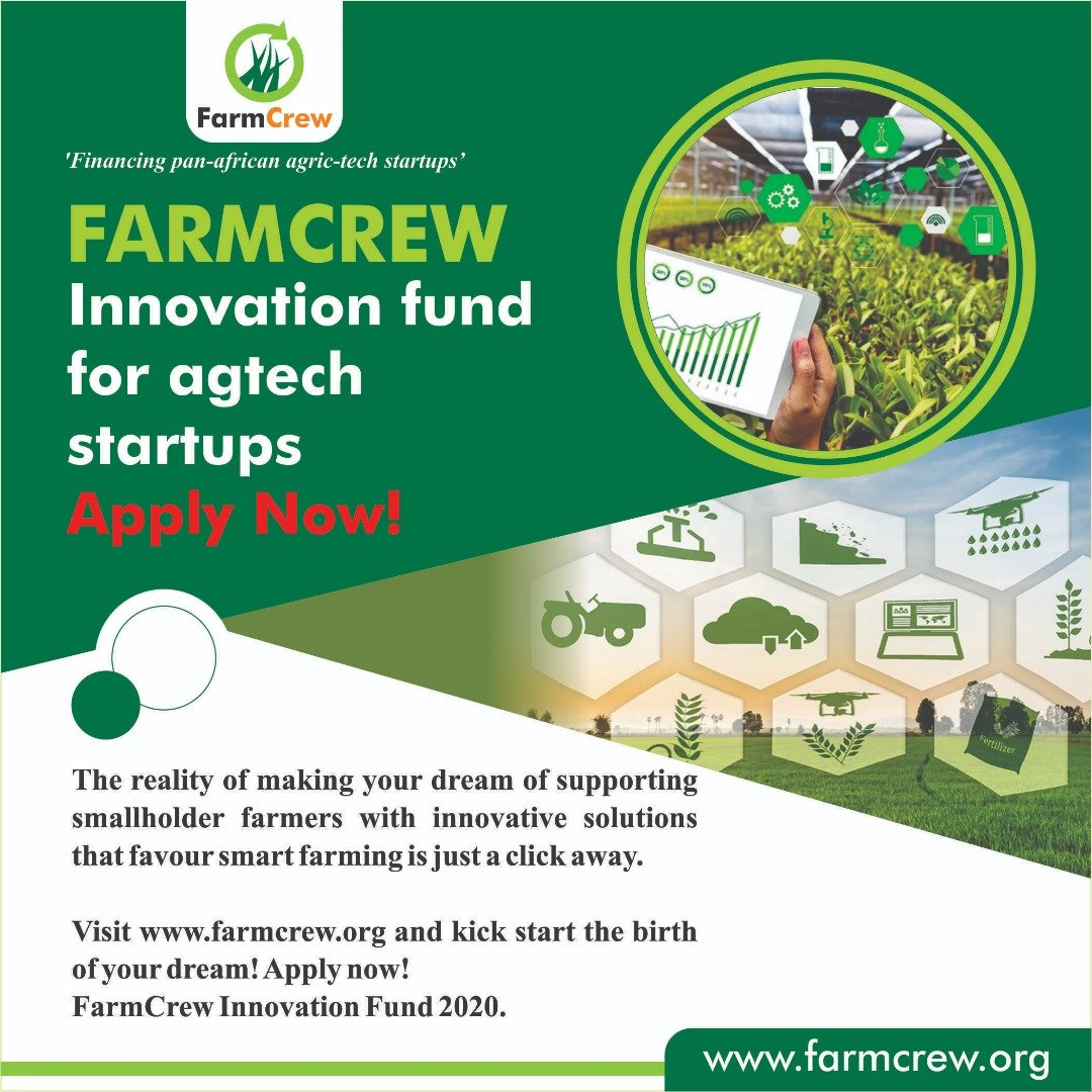 Agritech Startups In Africa Invited To Apply To FarmCrew Innovation's $50k  Fund