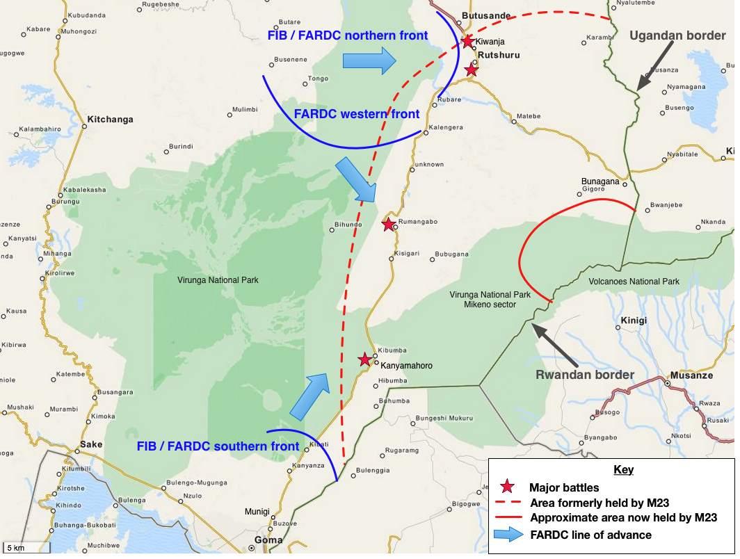 Carte offensive FARDC octobre 2013