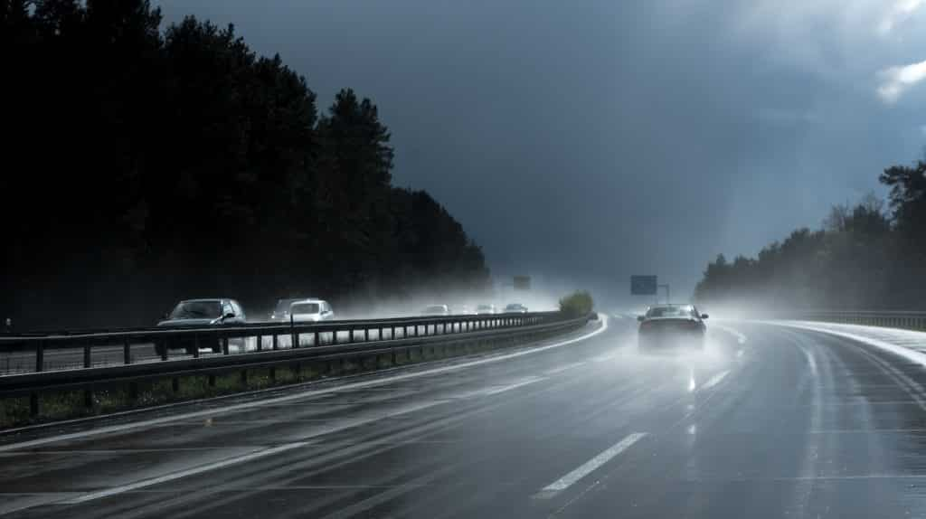 Conduite en période de pluie