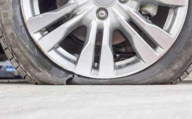 pneu éclaté