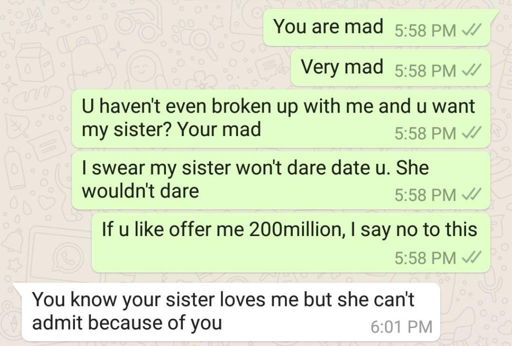 Elle publie sur la toile la conversation choquante qu'elle a eu avec son petit ami
