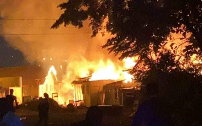 Ghana : Un violent incendie fait ravage à accra